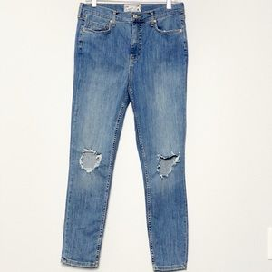 Free People High Rise Busted Skinny Jeans size 31